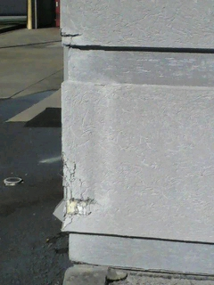 Structural Damage Repair - Payless Shoes had structural damage